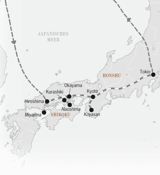 Japan Reiseroute