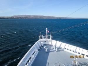 Die Bremen vor den Falkland Inseln