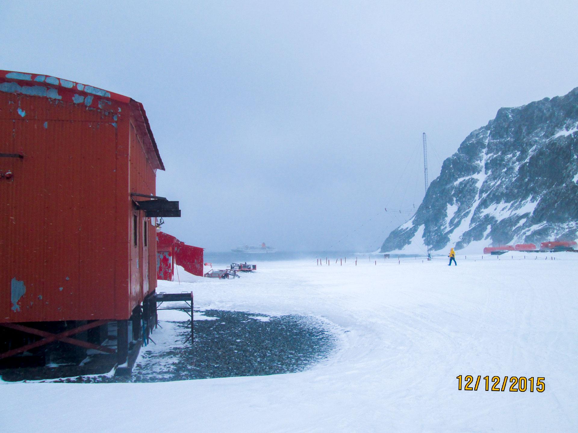 Forschungsstation in der Antarktis