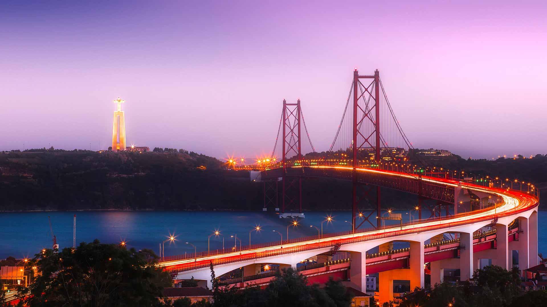 Lissabon Tejo Brücke