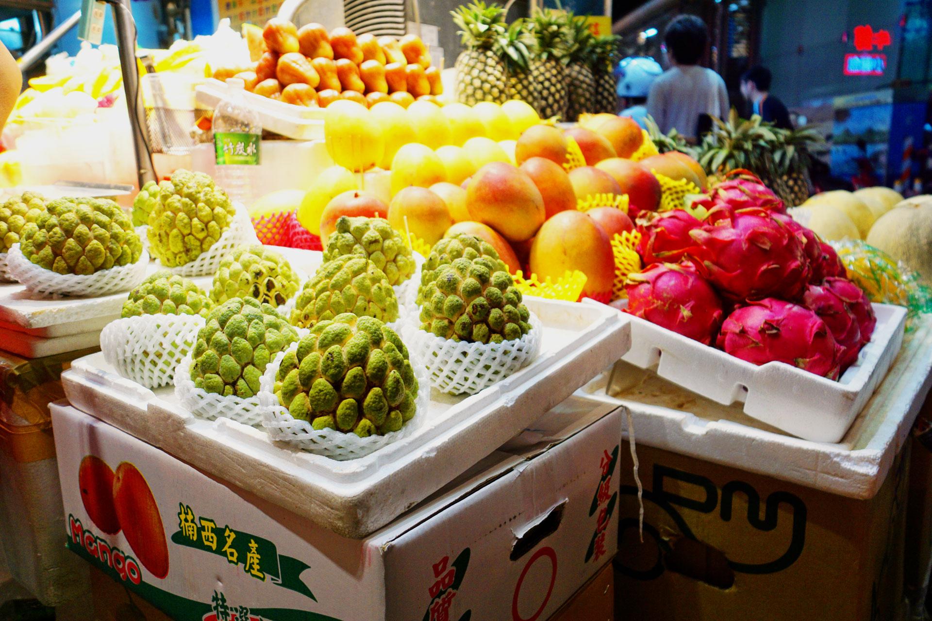 Frische Früchte auf dem Shilin Night Market