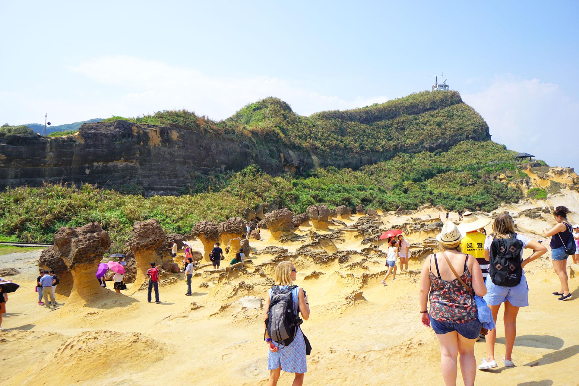 Verschiedene Felsformationen im Yehliu Geopark