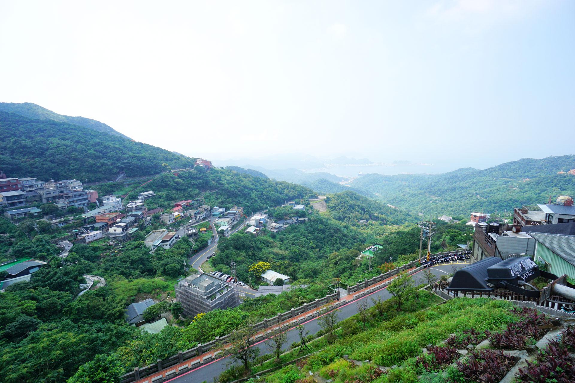 Blick auf das Ostchinesische Meer von Jiufen aus gesehen