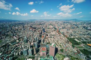 Blick über Taipei vom Taipei 101