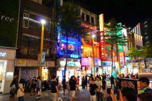 In Ximending reihen sich unzählige Restaurants, Shops und Bars aneinander.