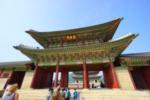 Eingangstor zu den inneren Bereichen von Gyeongbokgung, wo einst der König lebte und arbeitete.