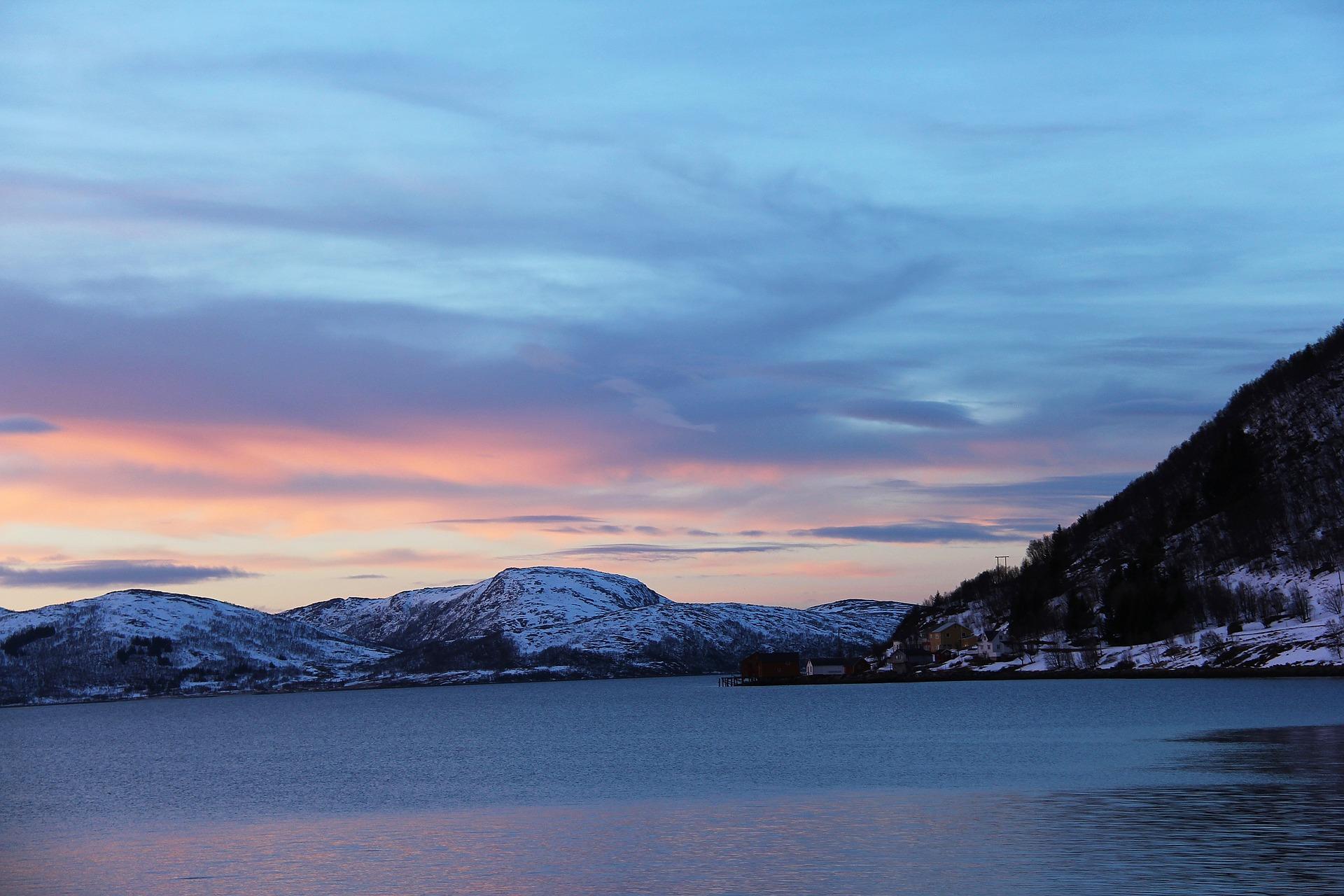 Sonnenuntergang in Tromsö