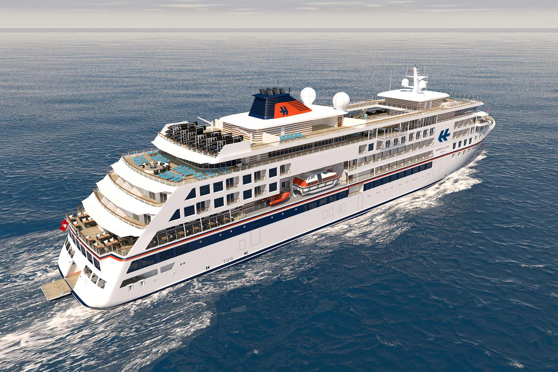 Hapag Lloyd Cruises Neubau HANSEATIC marina