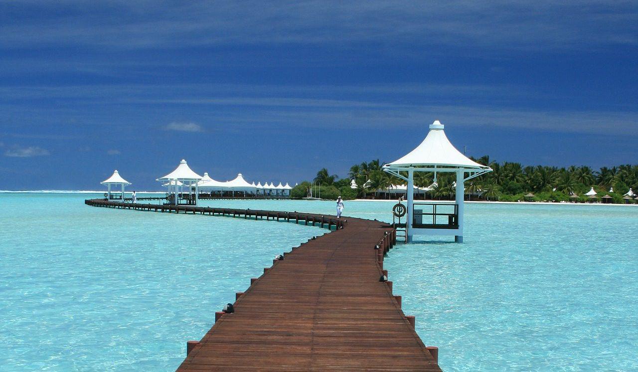 Steg auf den Malediven