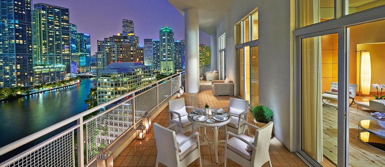 Mandarin Oriental Miami Suite Balkon