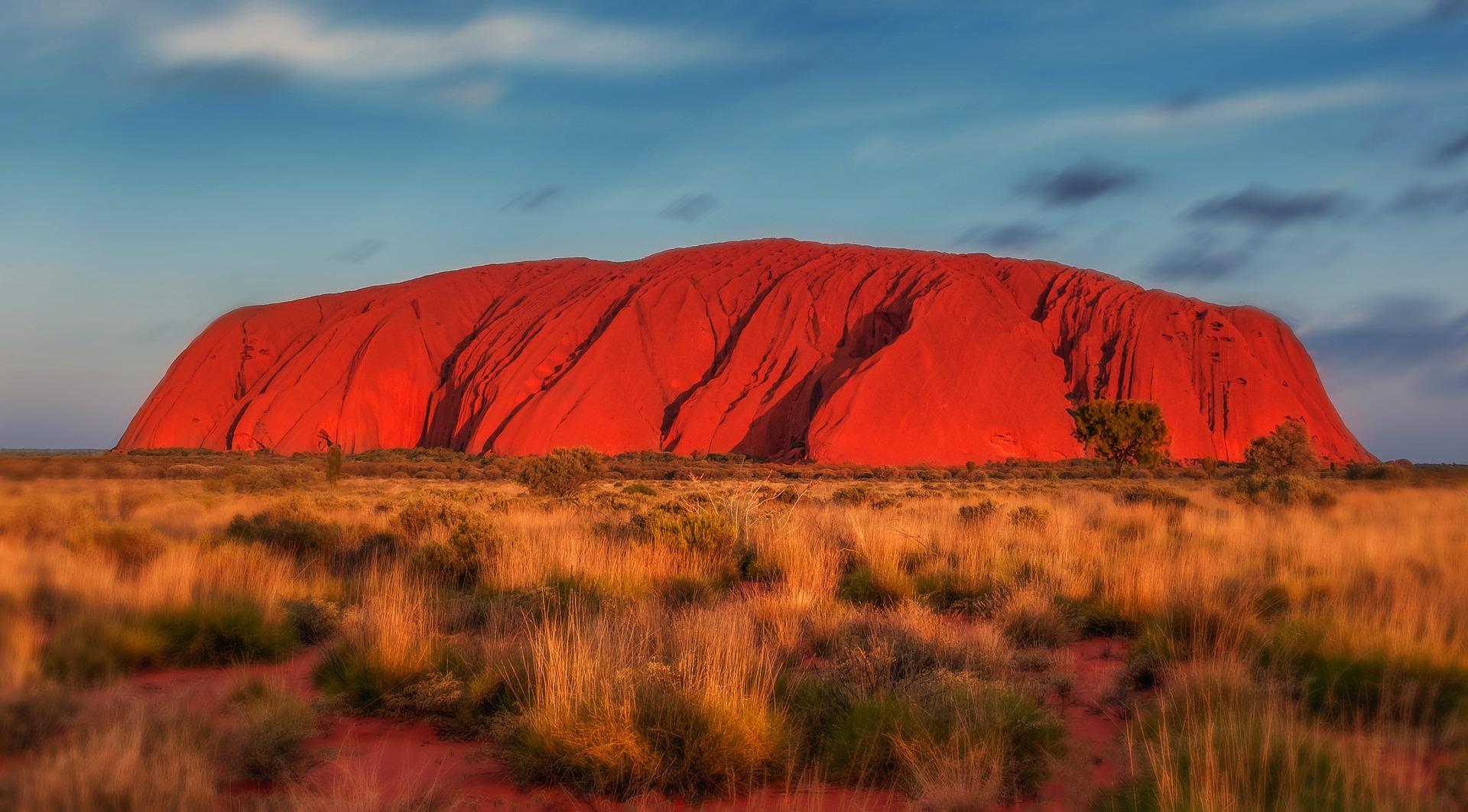 Australien Uluru, Roter Fels