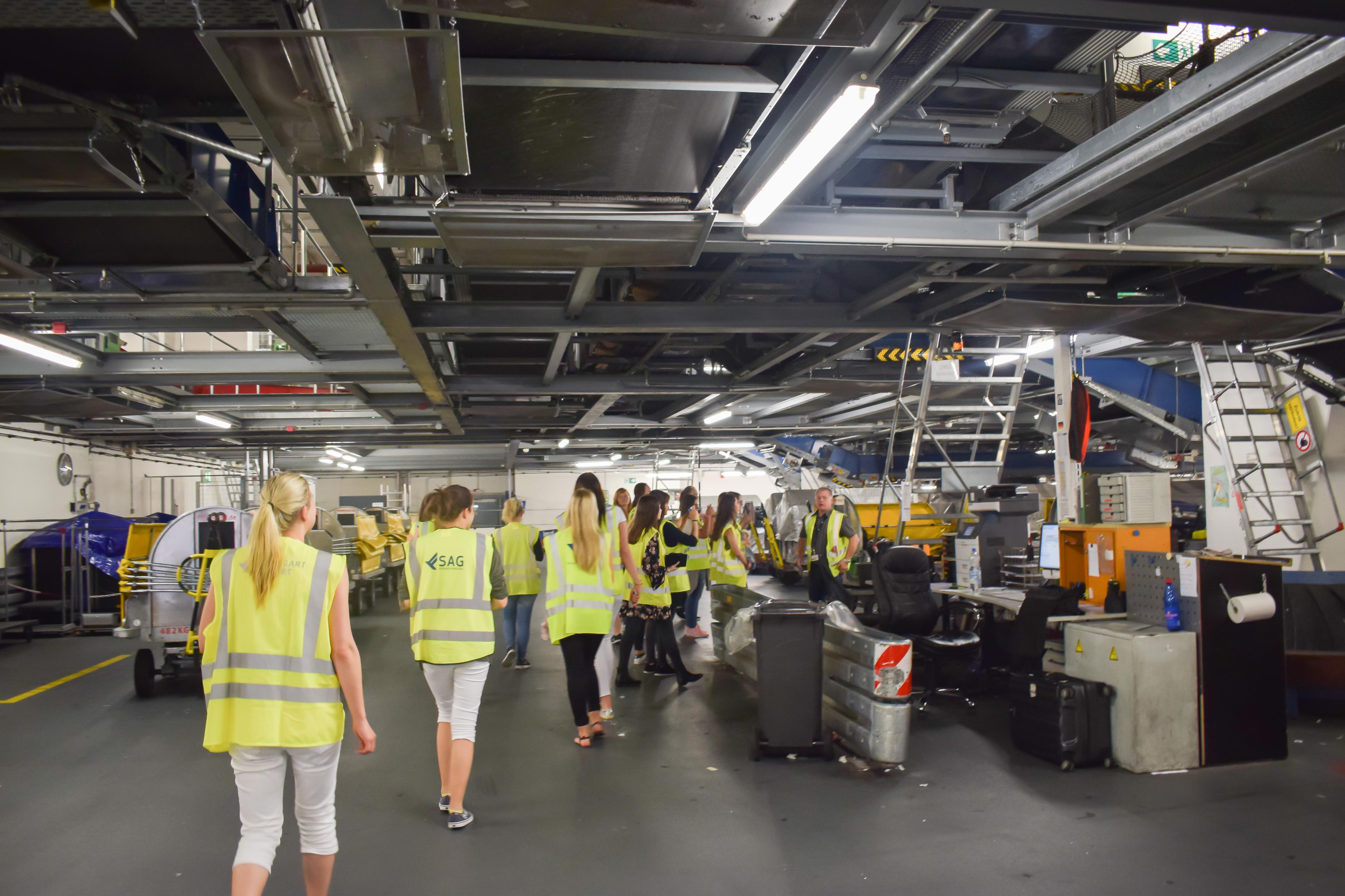 Die Gepäckabfertigung im Stuttgarter Flughafen, ein komplexes System