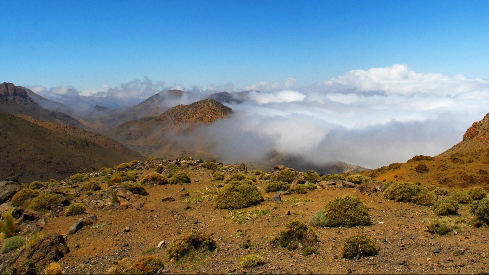 Das Atlasgebirge in Marokko