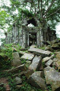 Eine Tempelruine in Kambodscha