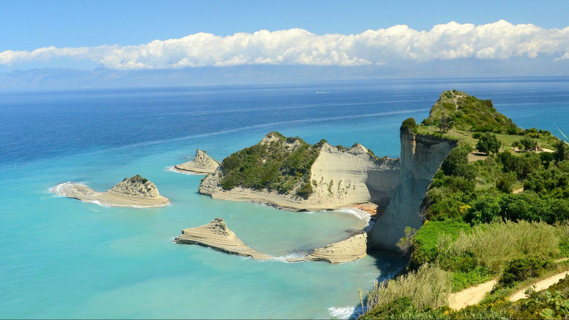 Korfu mit ihren kleineren Inseln