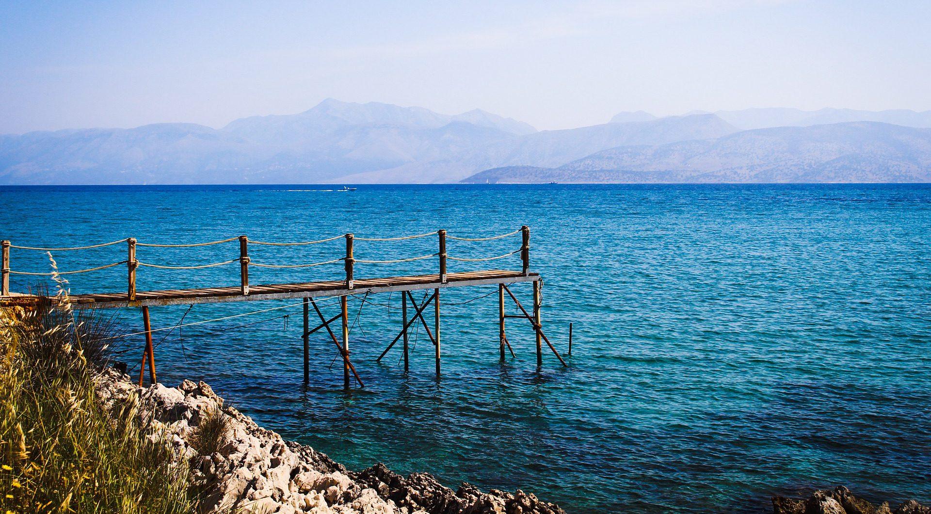 Korfus türkisblaues Meer