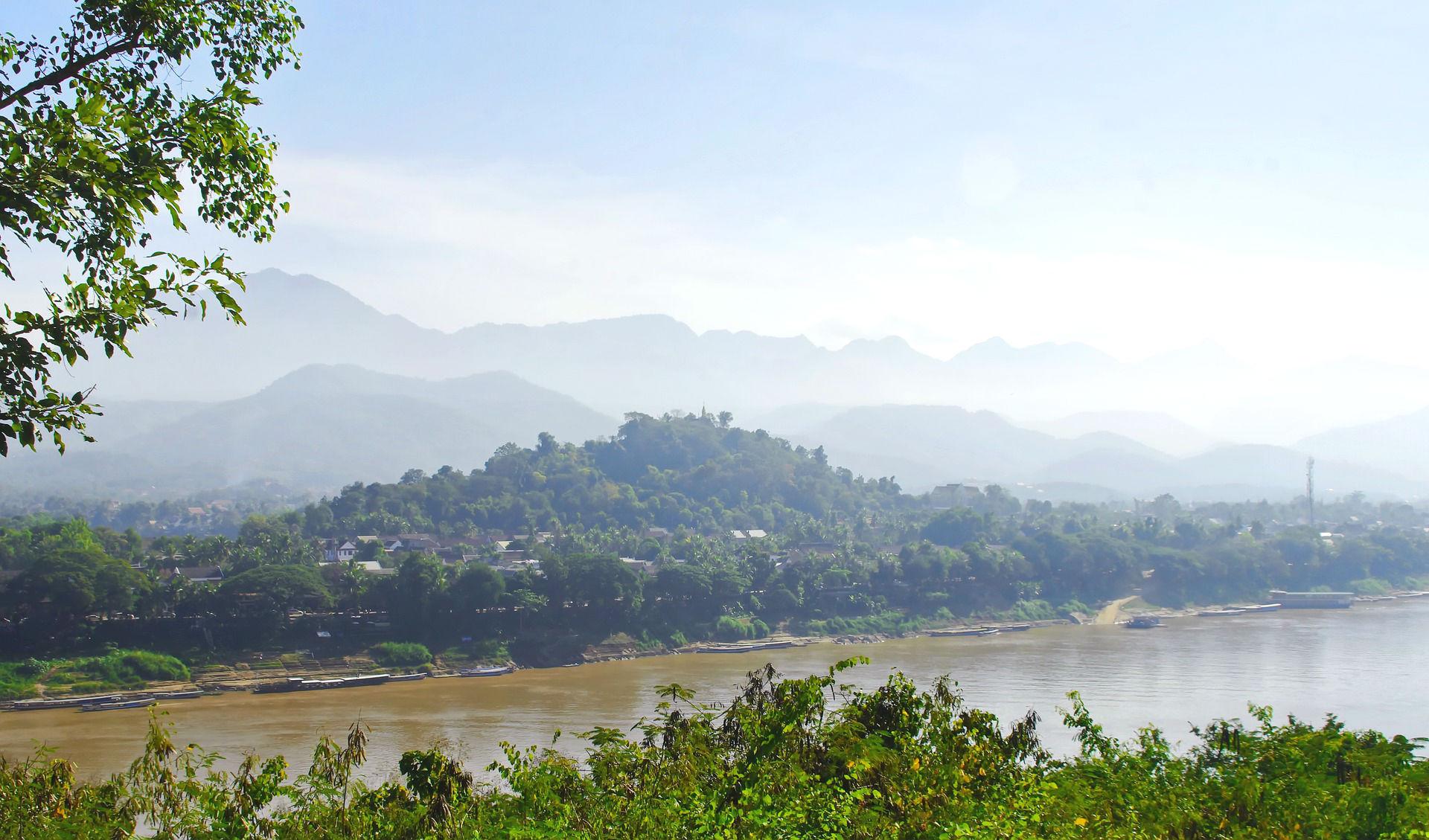 Der Strom Mekong durch Südostasien
