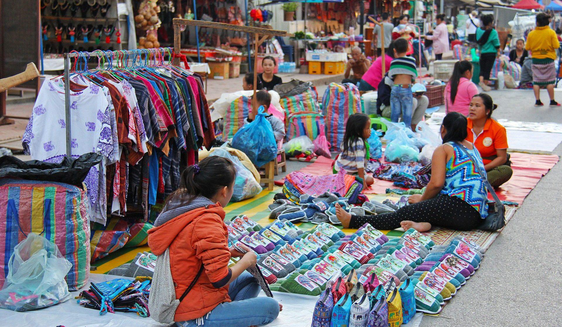 Traditionelle Märkte in Thailand, Vietnam, Kambodscha und Laos