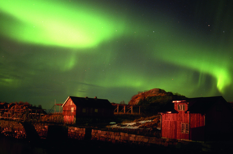 © Petra Wöbke: Nordlichter auf der Inselgruppe Lofoten