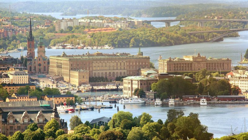 Stockholm mit Blick auf den Königspalast