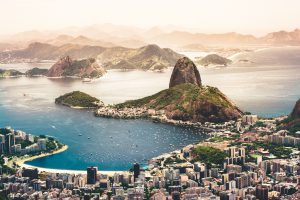 Brasilien mit Blick auf das Meer