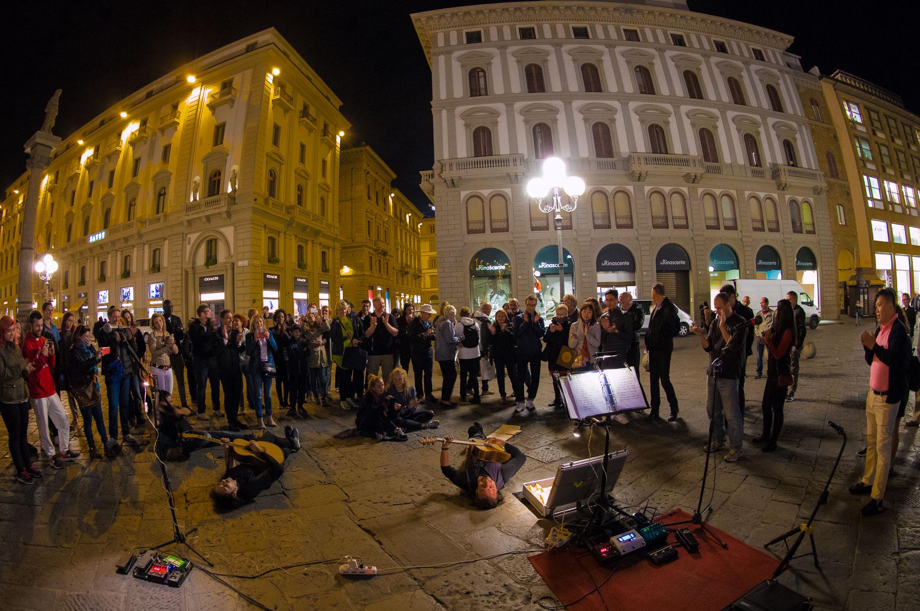Street-Performance, Straßenmusiker in Florenz
