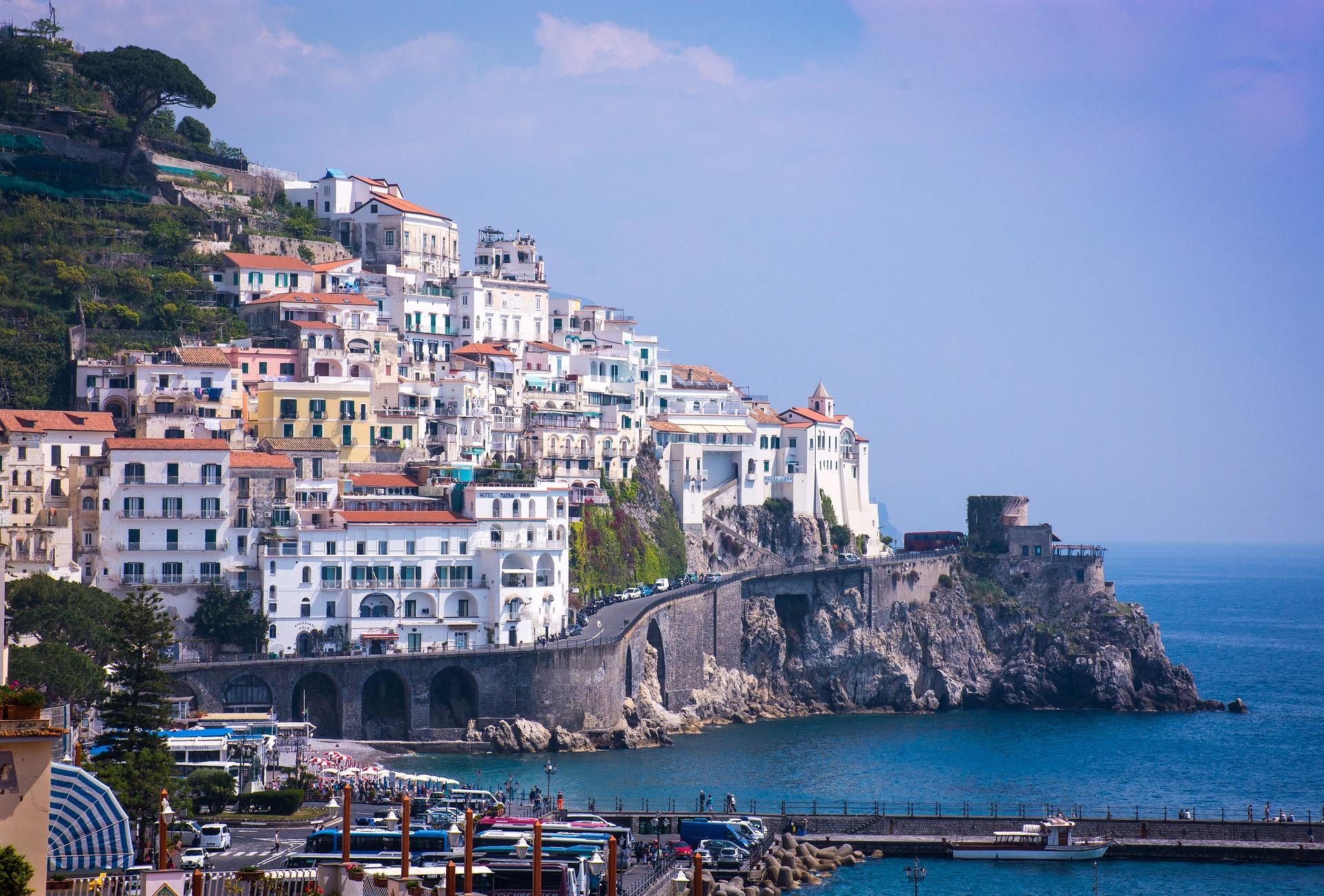 Von jeder Ecke aus bietet Amalfi einen wunderschönen Blick auf die Stadt
