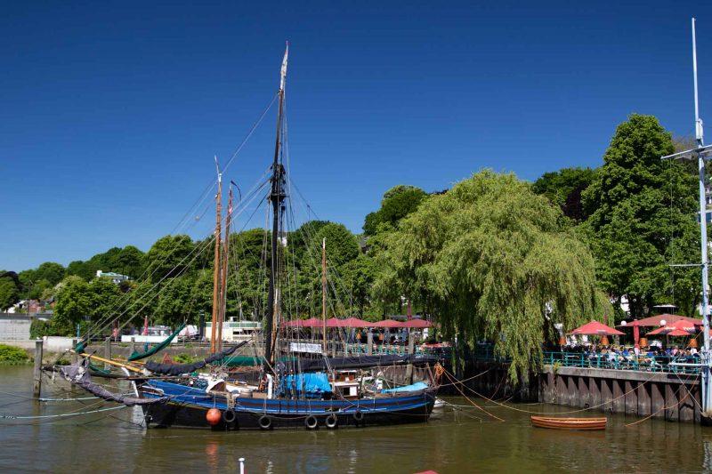 Hamburg Övelgönne, Historischer Hafen