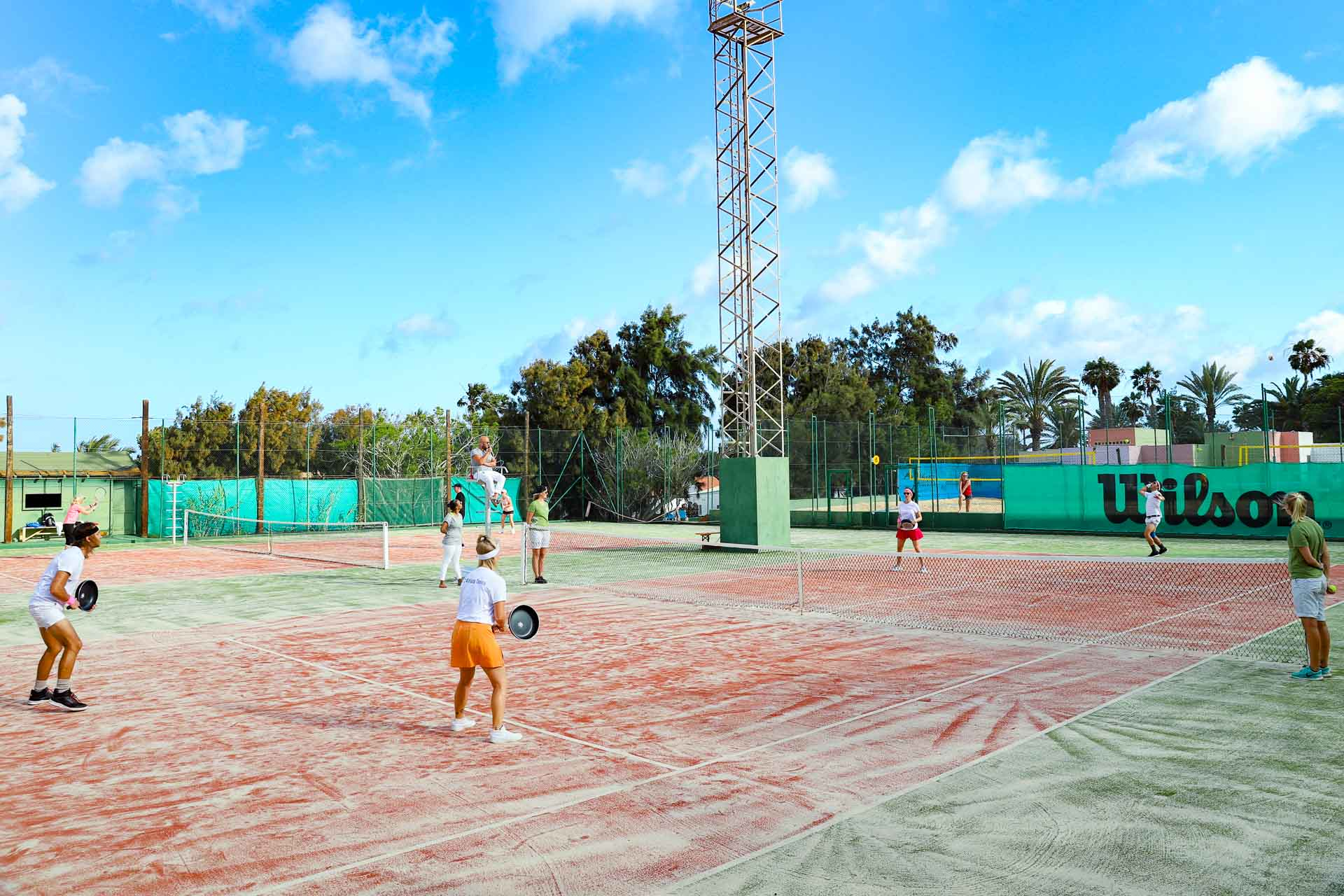 Aldiana Fuerteventura Tennisplätze Spieler