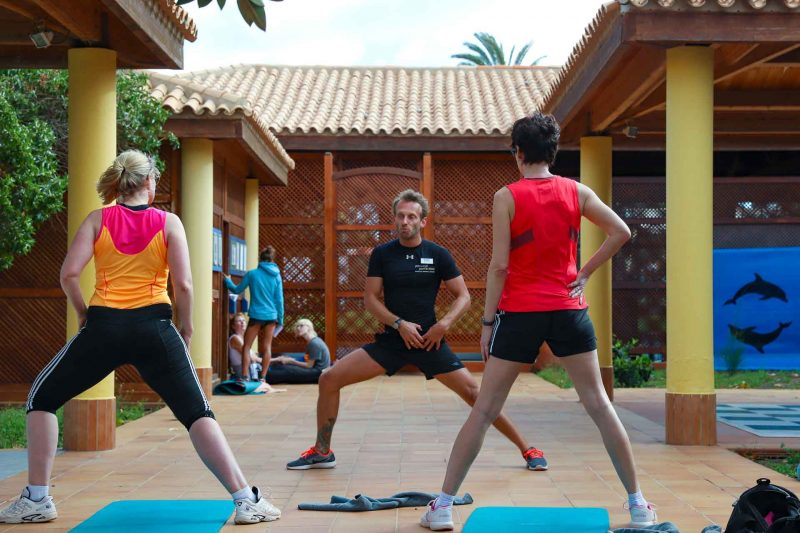Aldiana Fuerteventura Open Air Gym, Yoga Ecke und Stretching