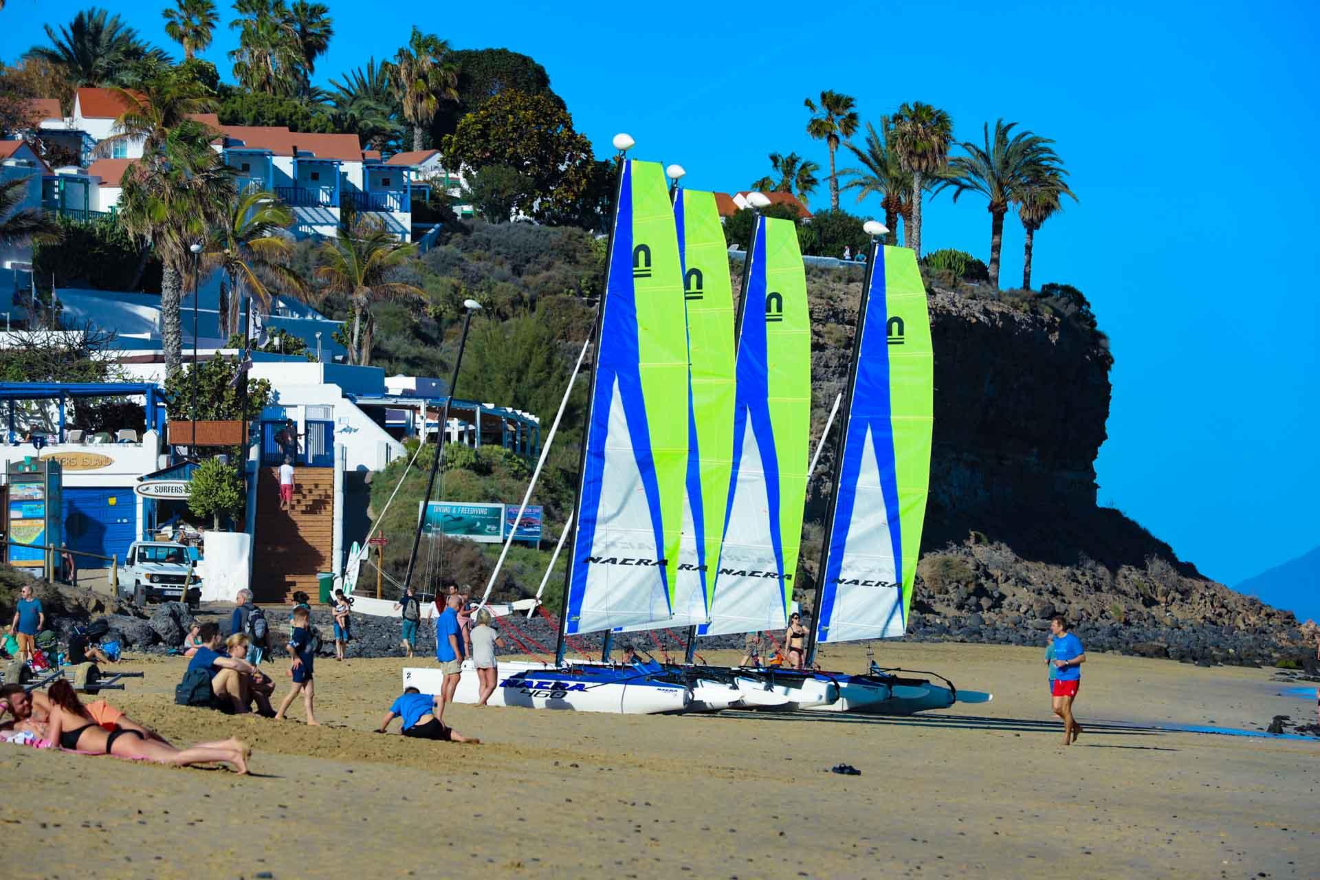 Fuerteventura Windsurfcenter am Strand