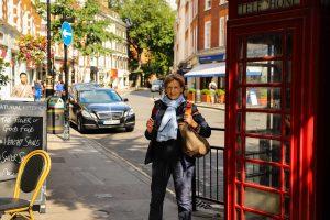 Telefonzelle im Londoner Stadtteil Marylebone