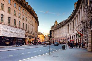 Das typische Stadtbild von London