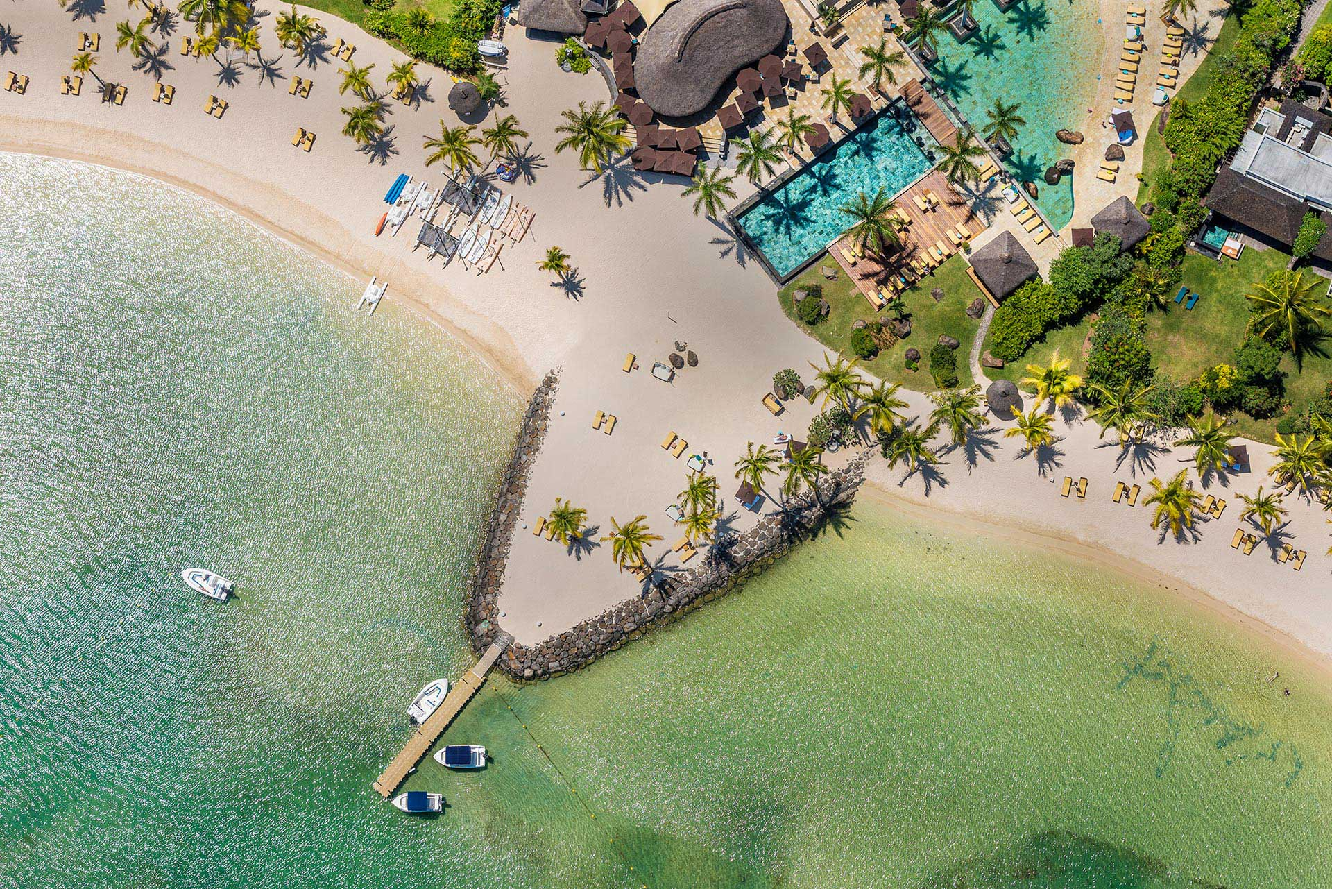 Aerial View Four Seasons Mauritius at Anahita