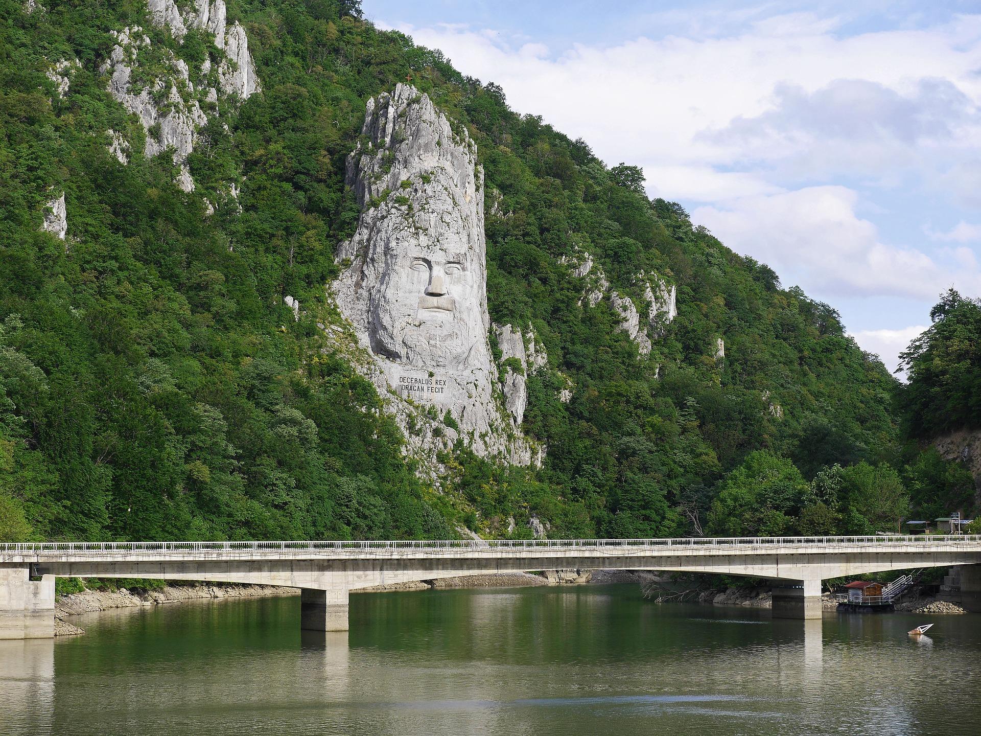 König Decebalus an der Donau