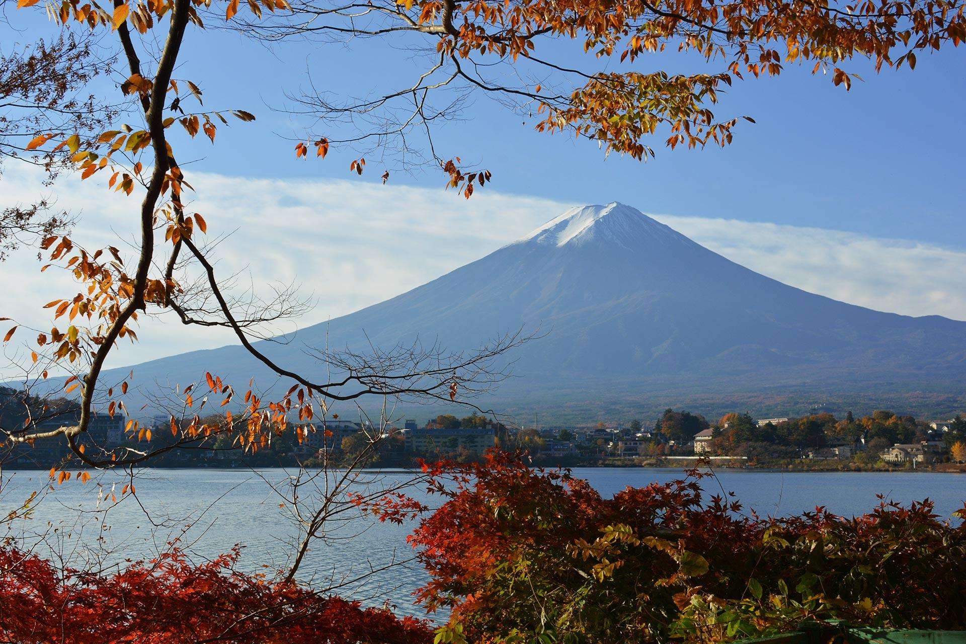 Blick vom See Kawaguchi