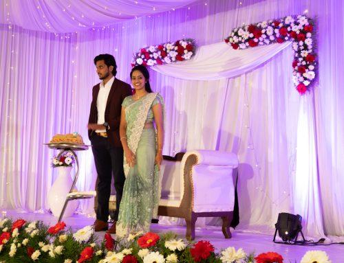 Kerala Wedding-Party. Eine indische Hochzeit