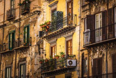 Hausfassade Palermo, Sizilien