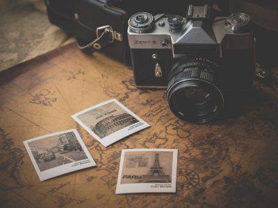 Kamera mit Fotos