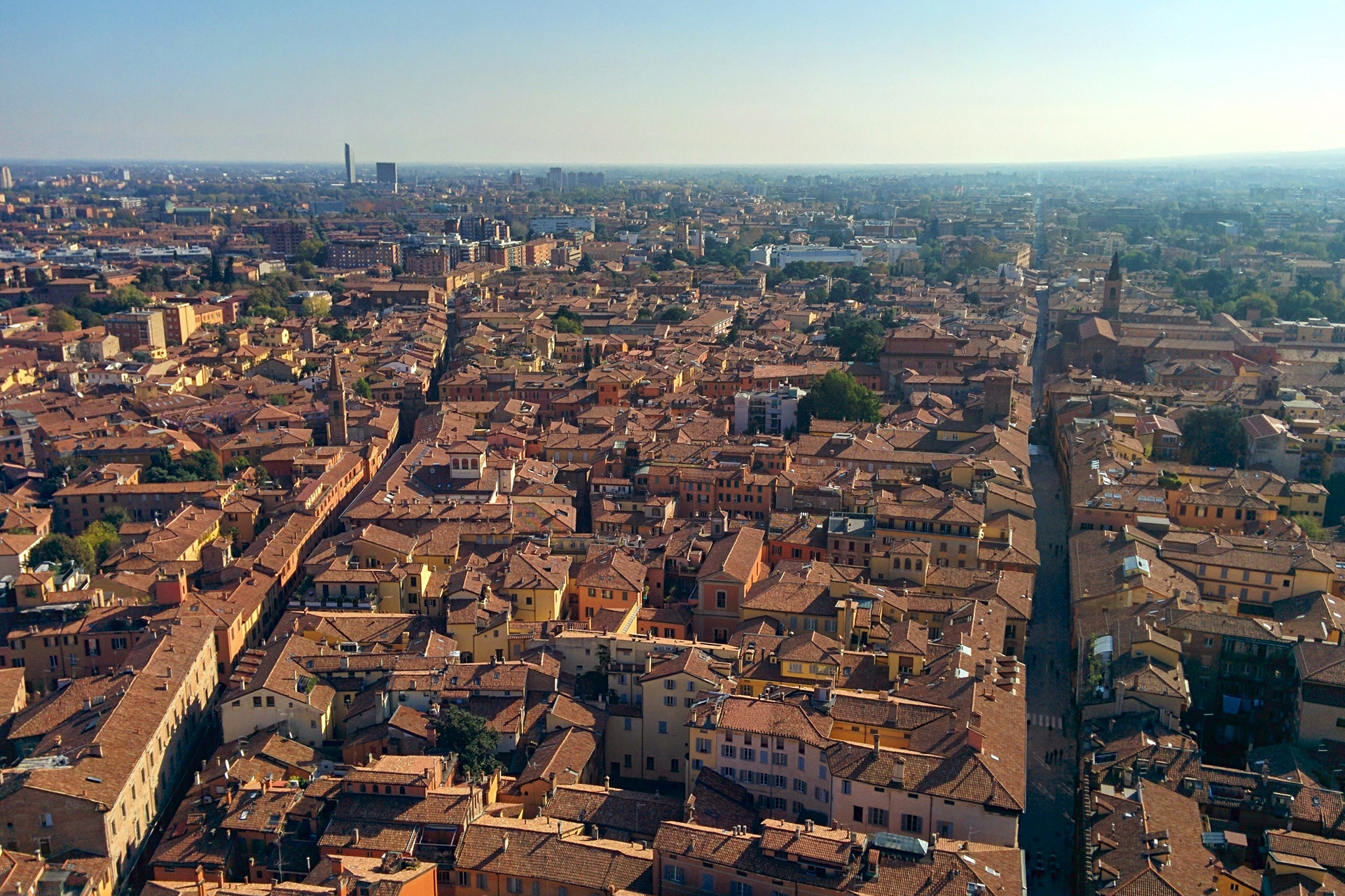 Blick auf Bologna