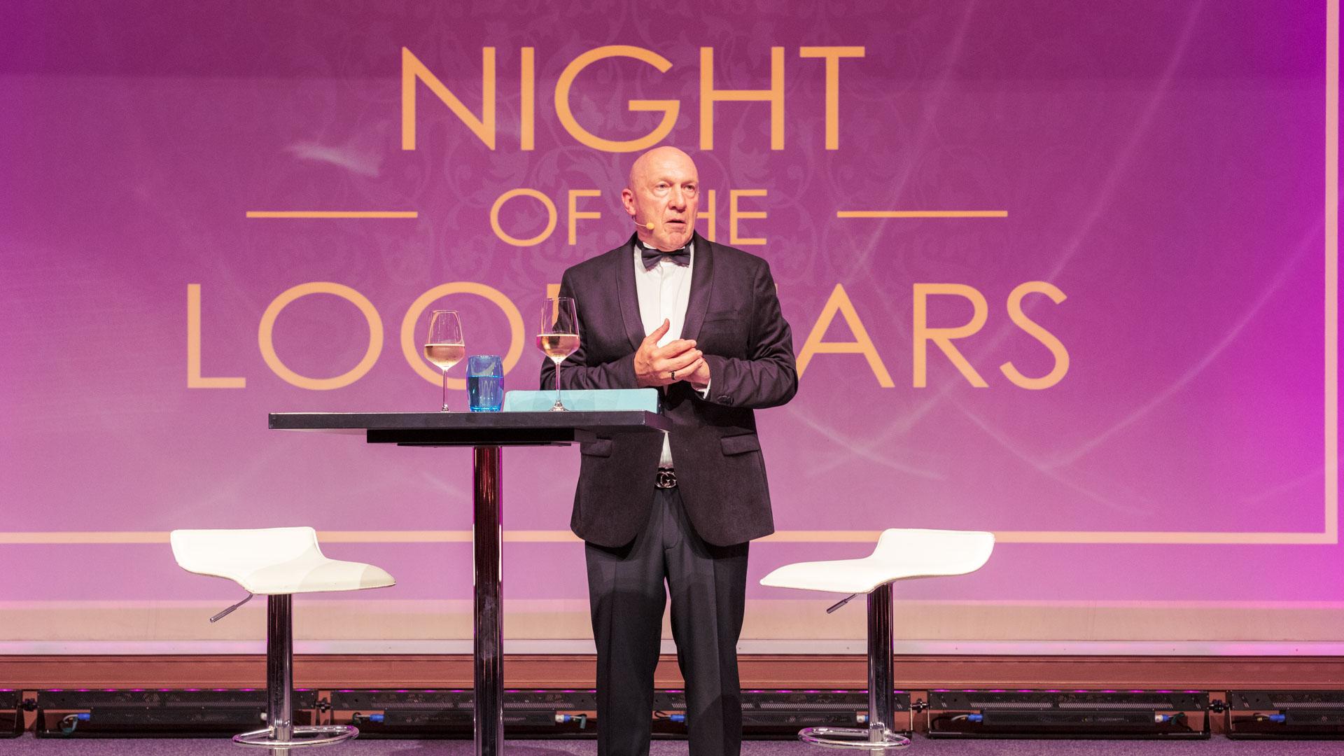 LOOP Gala Frankfurt 2021, Night of the Loopstars, mit Moderator Hans Gesk